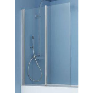Ben Iveo 2-delige Badwand 97x140cm Chroom / Helder Glas