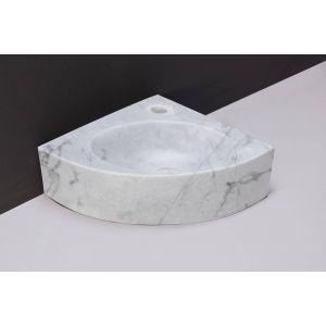 Forzalaqua Turino Fontein 30x30x10 cm 1 kraangat Carrara Marmer Gepolijst