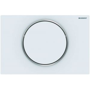 Geberit Sigma 10 Bedieningsplaat 24,6x1,4x16,4 cm Mat Wit