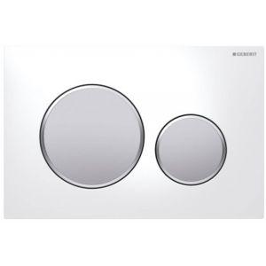 Geberit Sigma 20 bedieningsplaat kleuren:plaat-ring-knop Wit-Mat