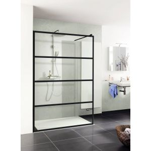 Duschprofi Walk In Pro inloopdouche Loft 2 120x200 cm helder glas mat zwart