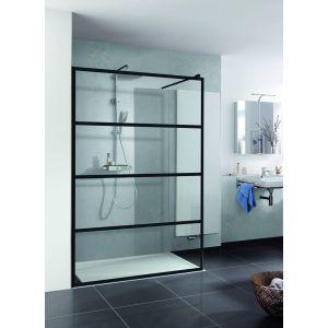 Duschprofi Walk in Loft Douchewand 120x200 cm Helder Glas/Mat Zwart