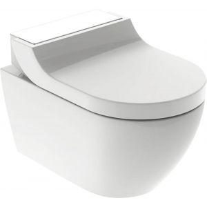 Geberit AquaClean Tuma Comfortset wandcloset + zitting 35x55x28 cm decorplaat Glas Wit