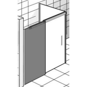 Ben Futura Schuifdeur met zijwand 160x90x200 cm Grijs Glas/Chroom
