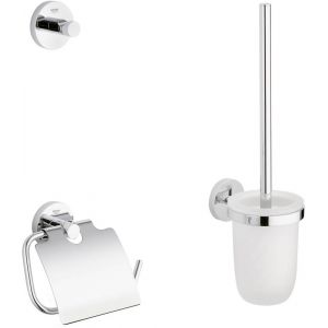 Grohe Essentials accessoireset 3-in-1 (haak-borstelhouder-closetrolhouder) Chroom