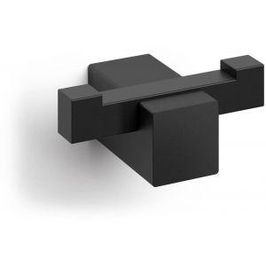 ZACK Carvo Dubbele Handdoekhaak 6,5x4,5x2,6 cm Zwart