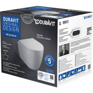 Duravit Me By Starck toilet pack Rimless 36x48x35cm wit