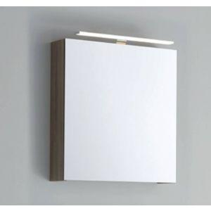 Line 45 Spiegelkast Linksdraaiend 60x13,5x60 cm excl. Verlichting Hoogglans Wit