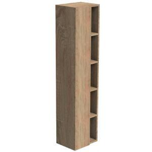 Thebalux Beat Hoge Kast Met Nis Rechts 40x30x165 cm Living Oak