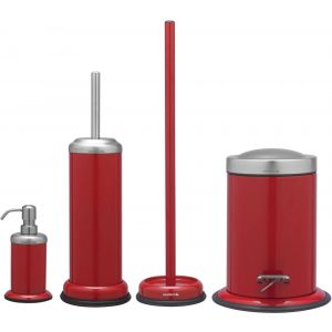 Sealskin Acero accessoireset 4-in-1 rood