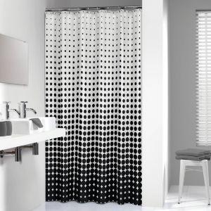 Sealskin SPECKLES Douchegordijn textiel Speckles 100% polyester 180 br 200 hg zwart