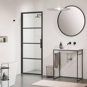 Sealskin SOHO 1-delige swingdeur rechts 80x210 cm Charcoal Helder Glas Sealglas