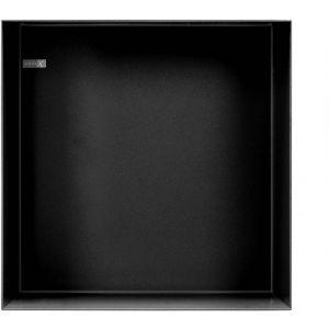 Looox Special Colour Box inbouwnis 30x30 cm Mat Zwart