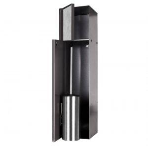 Looox CL10 Toiletborstelhouder inbouw betegelbaar inclusief opbergvak 2 deurs 14,5x14x61 cm Antraciet