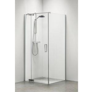 Sealskin Get Wet Custom douchecabine swingdeur rechts met zijwand 90x195 cm zilver hoogglans helder glas