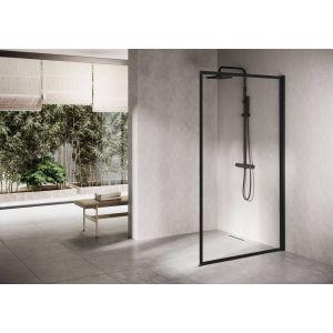 Ben Delphi Inloopdouche met Helder Glas 120x200 cm Mat Zwart