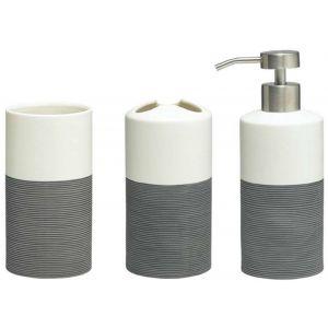Sealskin Doppio wastafel accessoireset 3-in-1 grijs