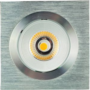 Luxalon Inbouwspot LED vierkant incl. driver brushed alu