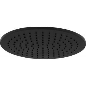 Ben Round Hoofddouche 25 cm Gestructureerd Zwart