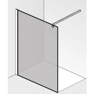 Saniselect Modella Glaswand voor montageset 120x210 cm Semi-gesatineerd Glas