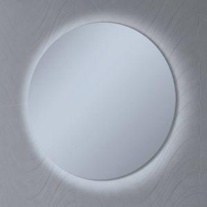 Ben Mirano Ronde Spiegel incl. LED-verlichting Ø 80 cm Wit Houten frame