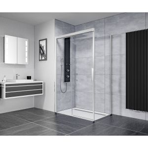 Ben IMotion douchecabine links schuivend  120x90x206 cm chroom/helder glas