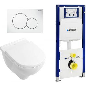 Villeroy & Boch O.Novo Complete toiletset incl. Geberit UP320