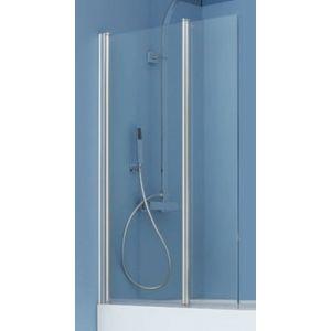 Ben Romero 2-delige Badwand 125x140cm Chroom / Helder Glas