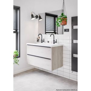 Saniselect Socan Slimline Onderkast 60x39,5x60 cm Pool Wit/Zwart