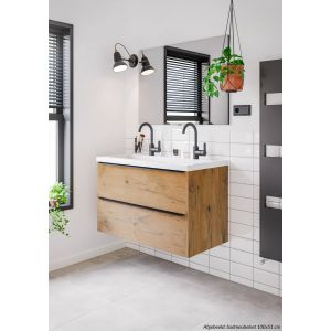 Saniselect Socan Onderkast 60x39,5x60 cm Wild Eiken/Zwart