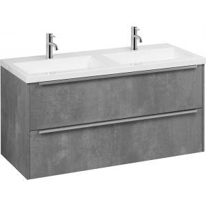 Saniselect Socan badmeubelset dubbele wasbak 120cm beton grijs