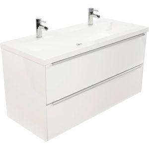 Saniselect Socan meubelset 2 lades met mineraalmarmere wastafel 120cm Glans Wit