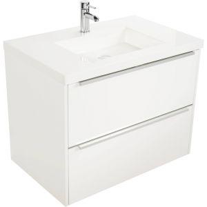Saniselect Socan meubelset 2 lades met mineraalmarmere wastafel 80cm Glans Wit