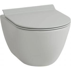 Ben Segno Wandcloset Compact Xtra Glaze Free Flush 36x50 cm Cement Grijs