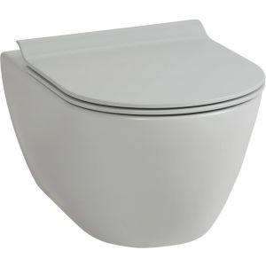 Ben Segno Wandcloset Xtra Glaze Dual Free Flush 36x55 cm Cement Grijs