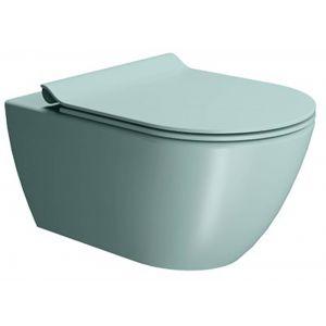 Ben Segno Wandcloset Dual Free Flush 36x55x33,5 cm Mat Azuur