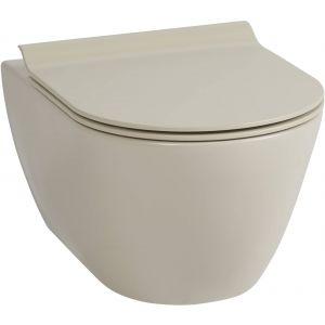 Ben Segno Wandcloset Dual Free Flush 36x55x33,5 cm Mat Beige