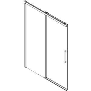 Ben Smooth Nisdeur Links 118-120,5x210 cm Helder glas Chroom-look