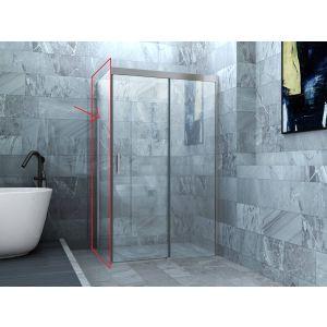 Ben Smooth Zijwand 90x200 cm Chroom/Helder Glas