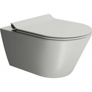 Ben Stelvio Wandcloset 36x55x34,5 cm Xtra Glaze Cement Grijs