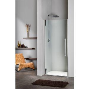 Sealskin Duka 2100 swingdeur L. 90(B)x195(H) cm (tussen 2 muren) zilver hoogglans helder glas 8mm