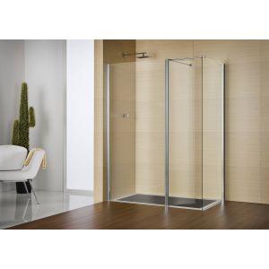 Sealskin Duka Multi-W zijwand 100(B)x200(H) cm (voor comb. met inloop) mat zilver gesatineerd glas
