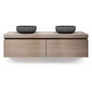 Looox Wood Wooden Drawer Box 100x46x45 cm Old Grey