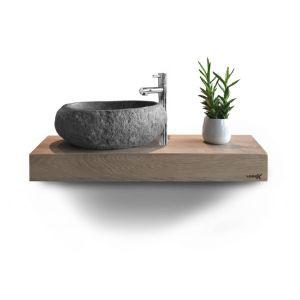 Looox Wood Wooden Mini Base Shelf 40 cm Eiken Old Grey