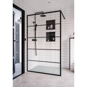 Saniselect Dalma Douchewand 90x200 cm Zwart Mat