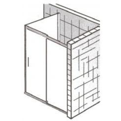 Ben Novalle Soft 2.0 Zijwand voor schuifdeur 90x200 cm Chroom