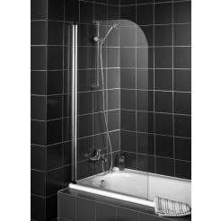Saniselect Vendetta Badvouwwand 80x140cm Chroom / Helder Glas