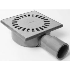 Easy Drain Aqua Compact vloerput abs 15x15cm horizontaal