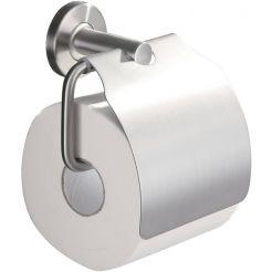 Saniselect Toiletrolhouder met klep RVS