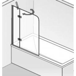 HSK Premium Softcube Badvouwwand 2-delig 90x140 cm chroom helder glas